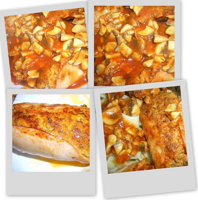 roladki z mięsa mielonego w szynce z pomidorowym sosem