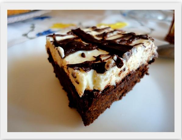 Czekoladowe ciasto z serem