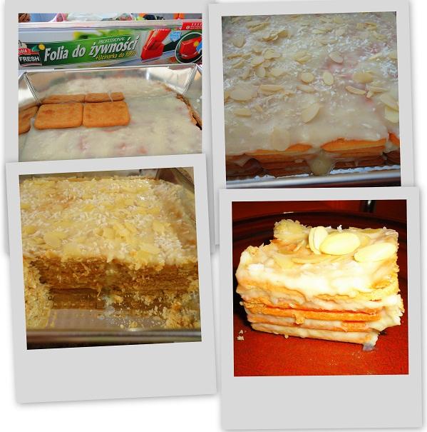 rafaello na krakersach, szybkie ciasto bez pieczenia