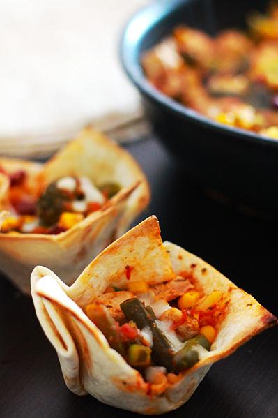 Tortille z kurczakiem
