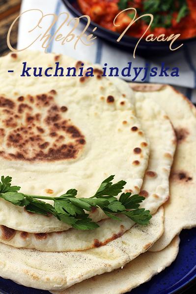 Chlebki naan kuchnia indyjska