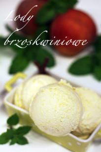 Lody brzoskwiniowe (test maszynki do lodów)