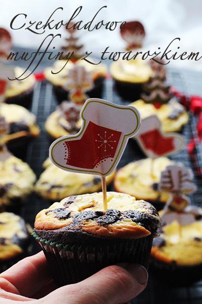 Czekoladowe muffinki z serem