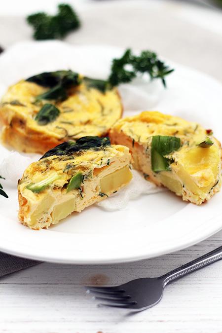 Zapiekany omlet ze szpragami