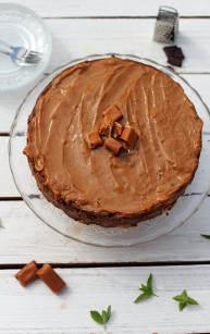 Sernik czekoladowo-krówkowy