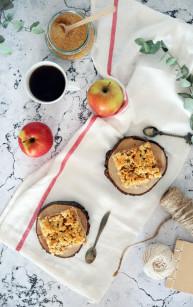 Jabłecznik na kruchym cieście pâte sablée