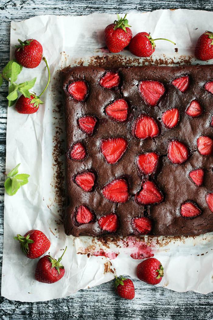 Brownies-z-truskawkami