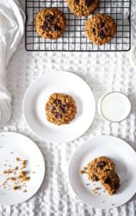 Dyniowe ciasteczka owsiane (wegańskie i bez glutenu)