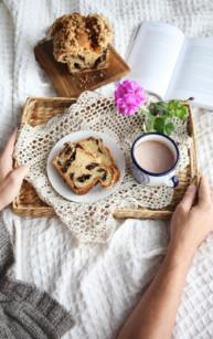 Babka drożdżowa z czekoladą i kruszonką