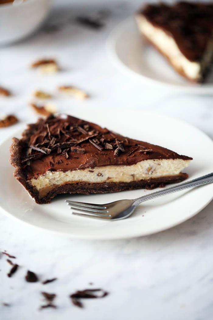 Przepis na czekoladową tartę z mascarpone