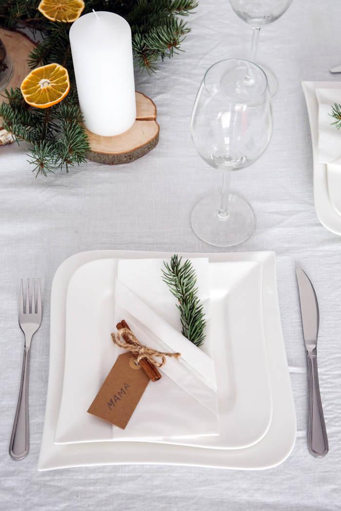 boze narodzenie dekoracja stolu