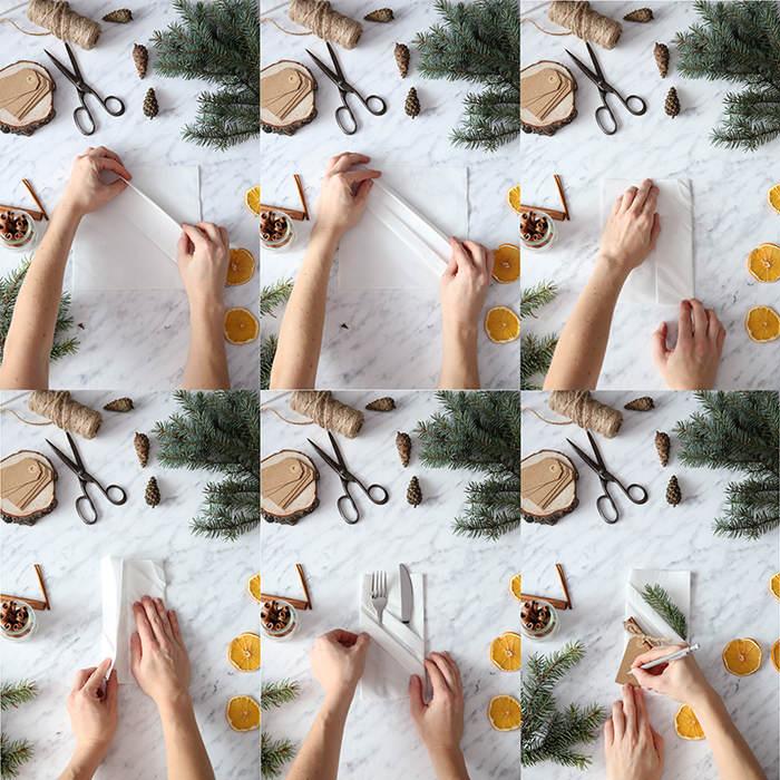 Jak zrobić kieszonkę na sztućce z serwetki krok po kroku