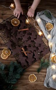 Korzenne ciasteczka czekoladowe