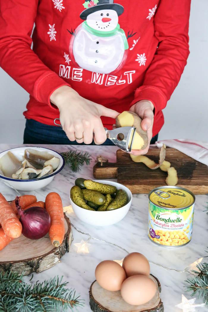 Przepis na śledzie pod pierzynką z majonezem