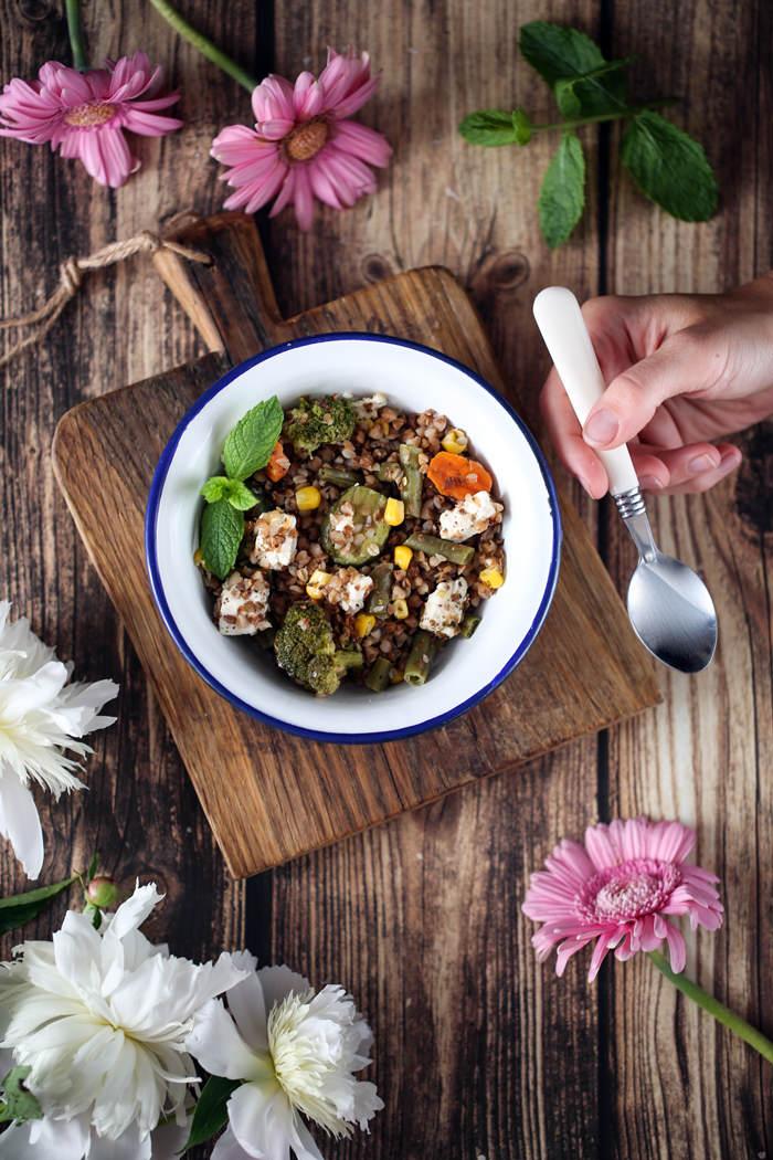 kasza gryczana z warzywami przepis