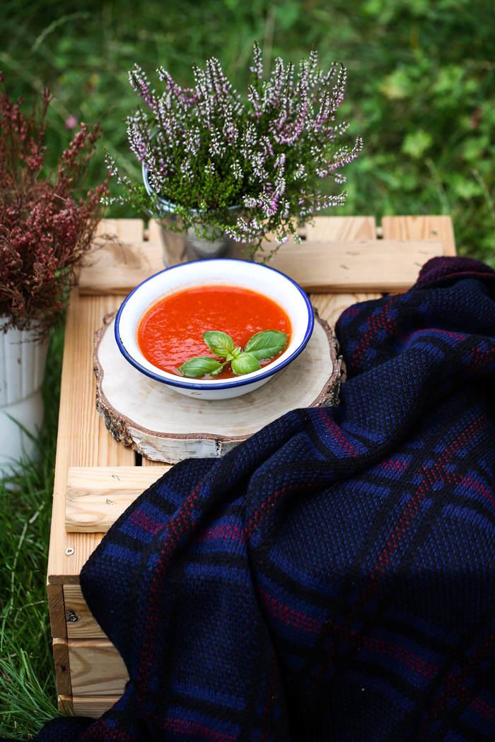 Zupa krem z pieczonych pomidorów i papryki