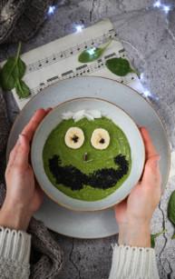 Zielone smoothie z płatkami owsianymi