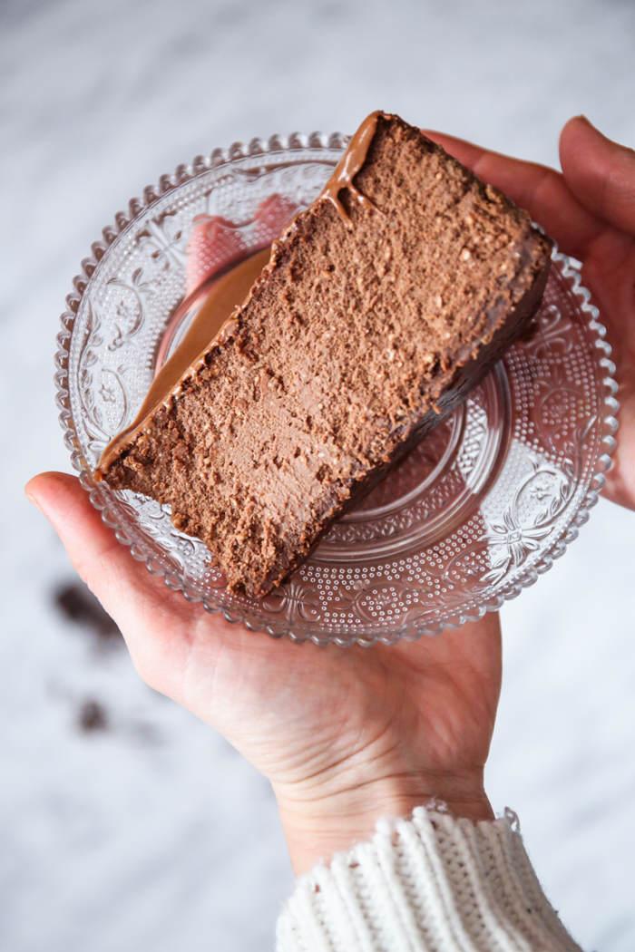 Kremowy sernik czekoladowy