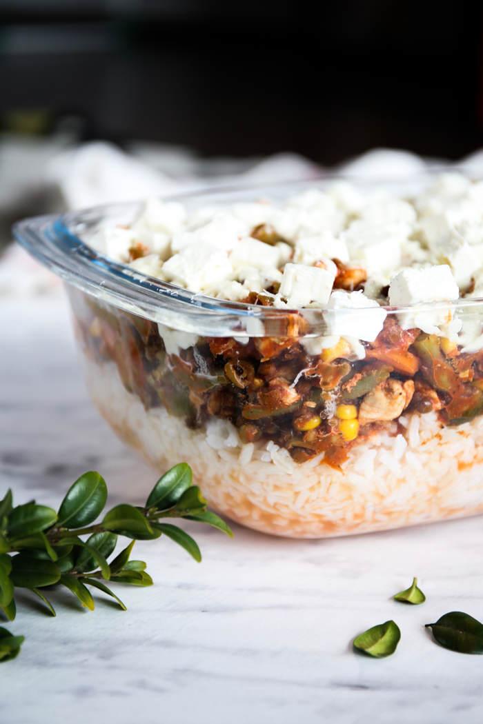 Zapiekanka z ryżem przepis