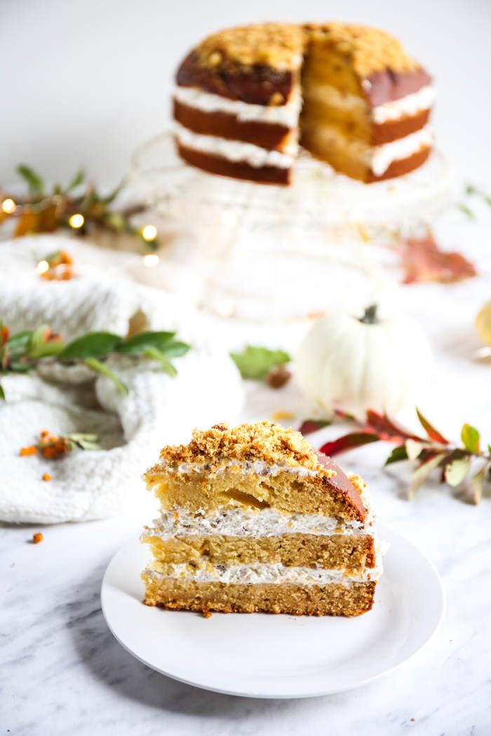 Dyniowe ciasto z kremem mascarpone