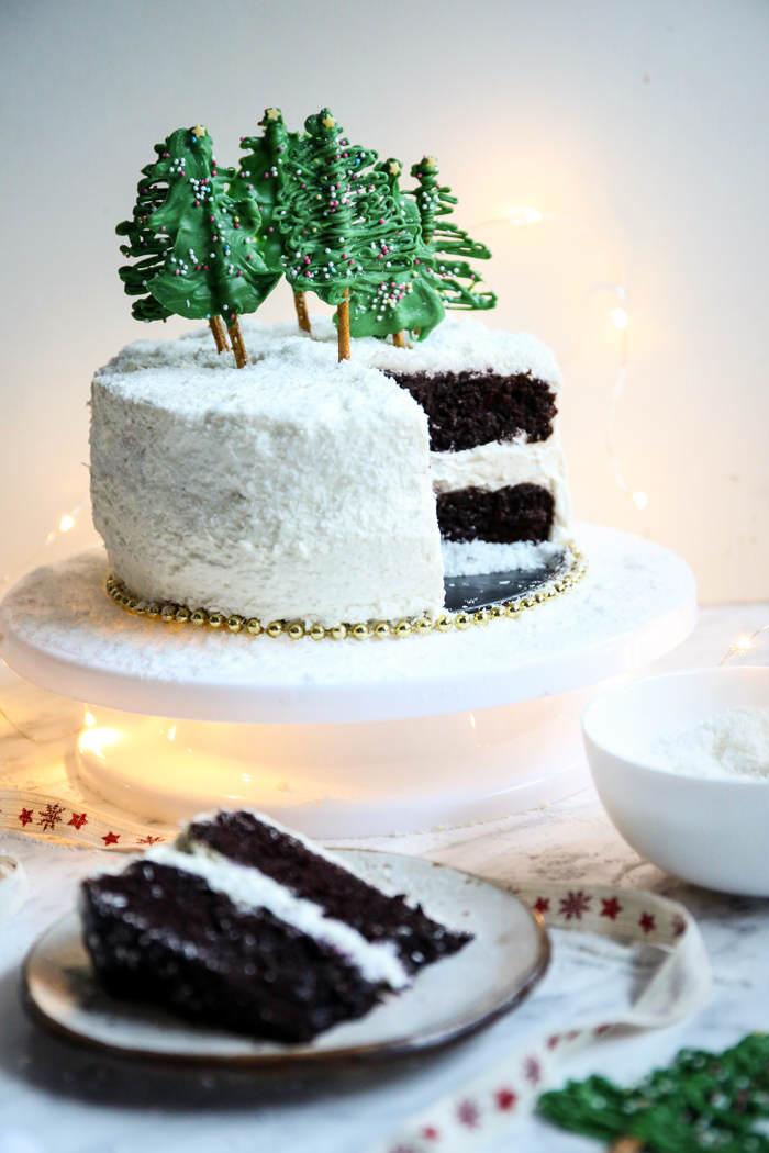 Czekoladowy tort na Święta