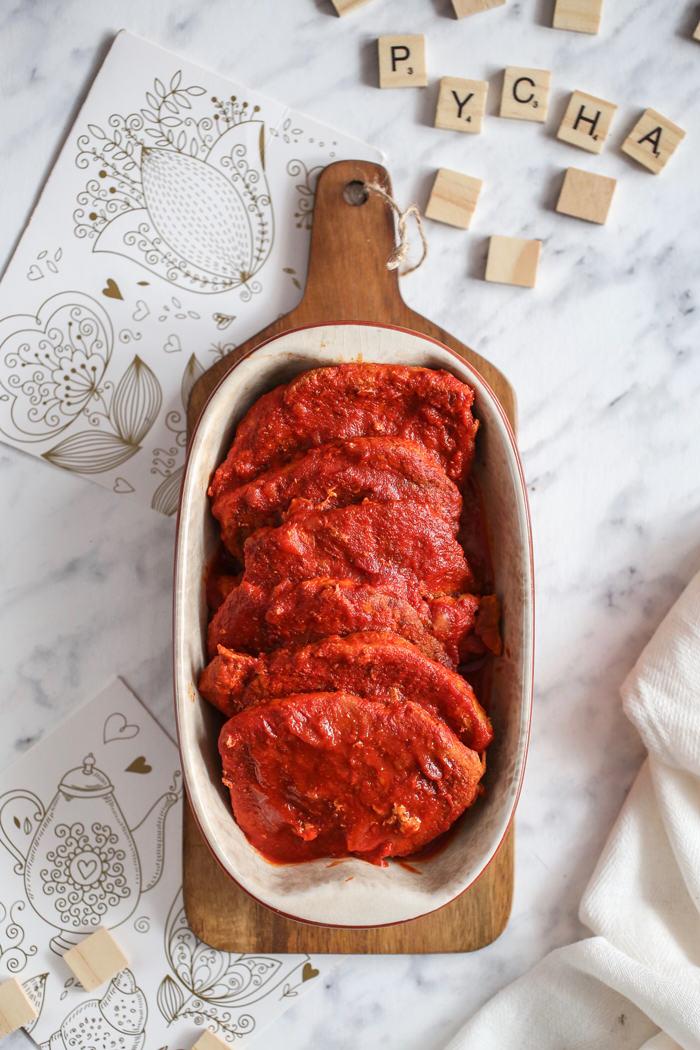 Schab w sosie pomidorowym