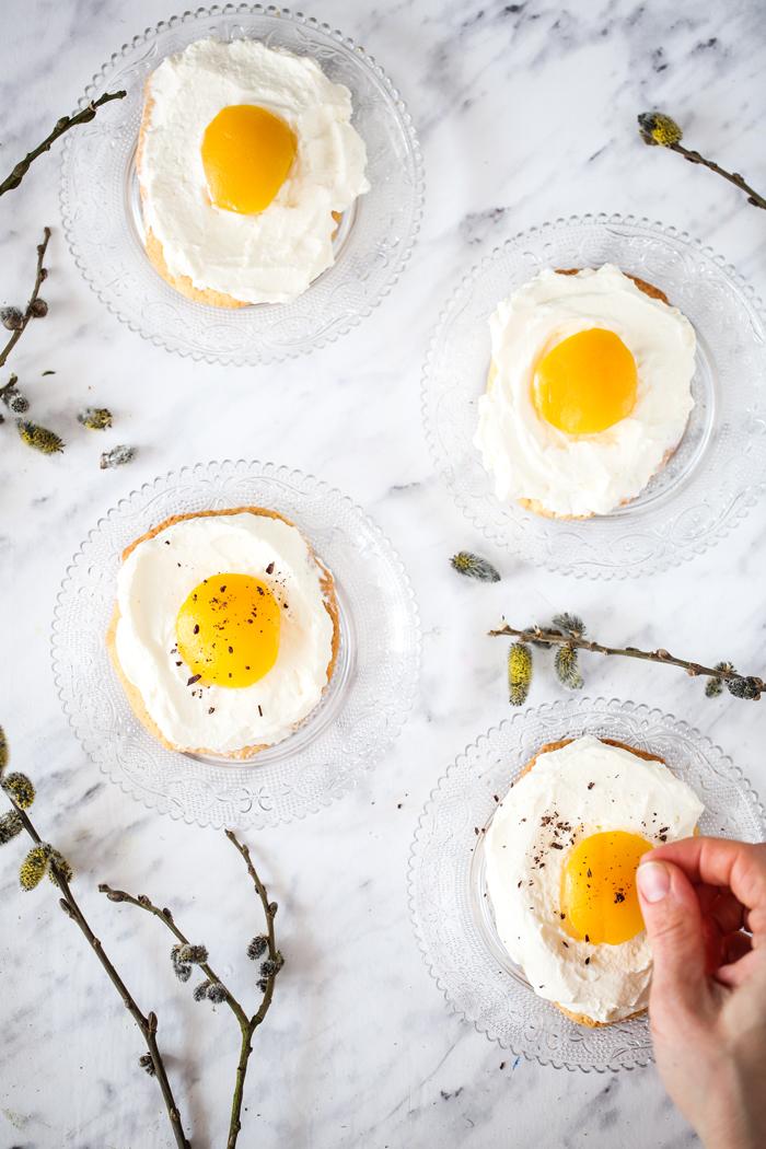 Ciastka jajka sadzone
