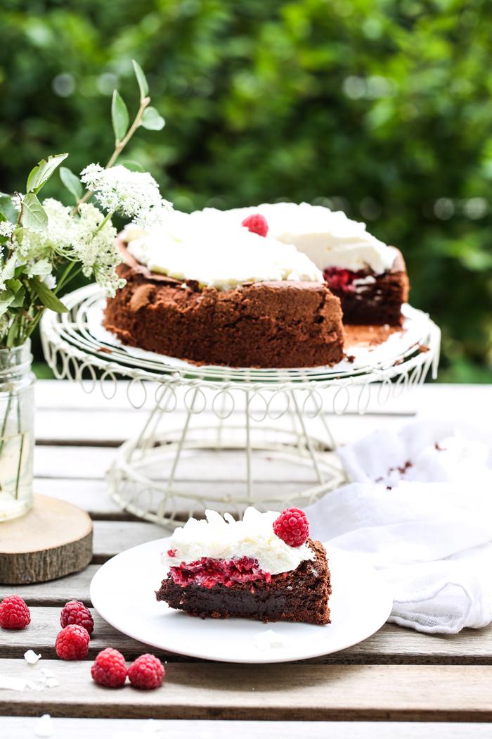 Ciasto Malinowy Wulkan bez glutenu