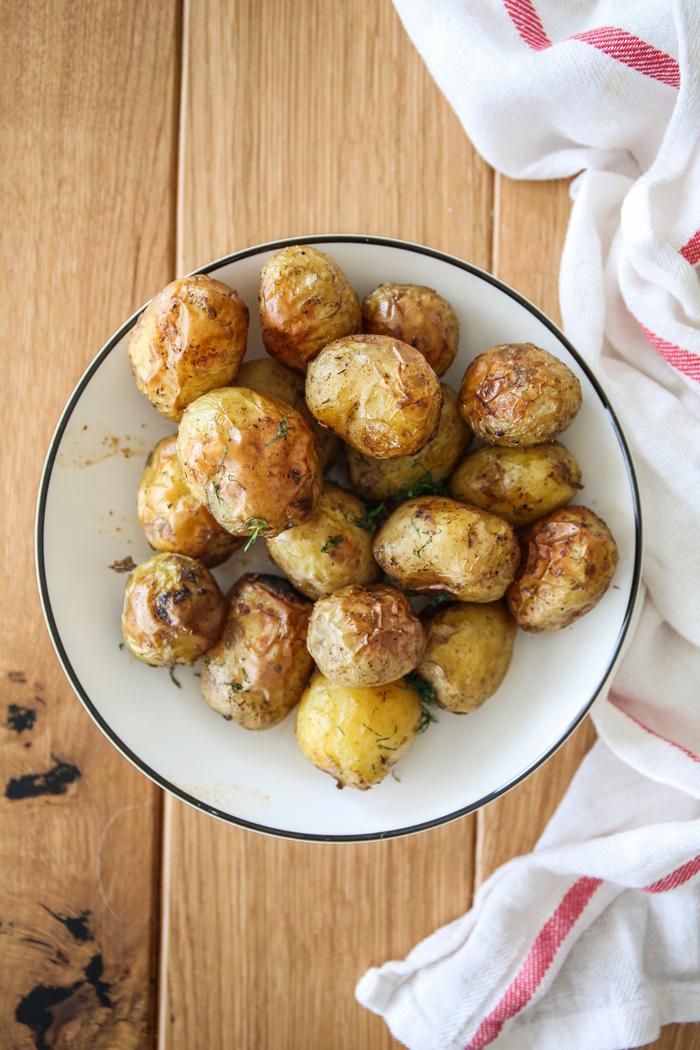 Młode ziemniaki z piekarnika