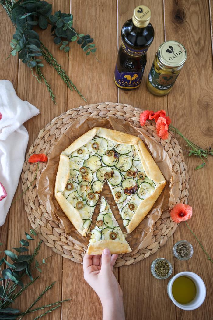 Tarta z cukinią na oliwie